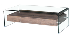Heartlands FurnitureAngola Coffee Table in Clear Glass with DrawerBlue Ocean Interiors