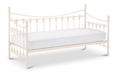 Verssalles Daybed and Underbed 90cm Bedframe in Stone White Finish