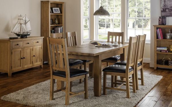 Julian BowenAstoria Extending Oak Dining Table with 4 ChairsBlue Ocean Interiors