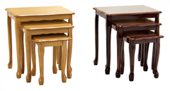 Robin Nest of 3 Tables in Golden Oak or Mahogany High Gloss