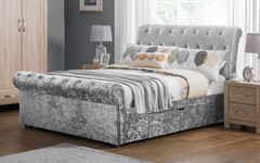 Verona 150cm 2 Drawer Silver Storage Bed