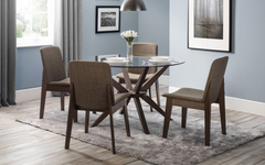 Julian BowenChelsea Glass Dining Table with 4 Kensington ChairsBlue Ocean Interiors