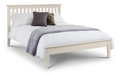 Salerno Double Bed in Ivory Finish