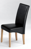 Adina Small Dining Table in Black Glass with 4 chairs