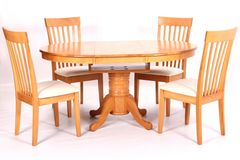 Leicester Extending Dining Table with 4 Chairs