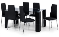 Greenwich Glass Dining Table with 6 Chairs
