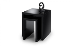 Metro High Gloss Nest of Tables - Black