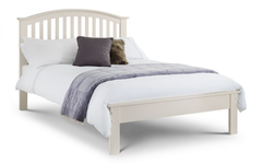 Olivia 135cm Bed in Stone White Finish