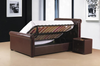 "Caxton Storage Bed In 4'6"" Available in Black or Brown Faux Leather"