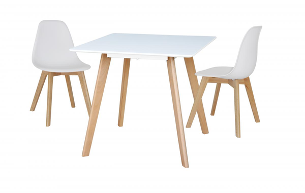 Belgium Small Dining Table with 2 Chairs