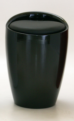 Dawson Black Stool with Storage