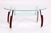 Bolivia Coffee Table in Clear Glass with Frost Glass Shelf