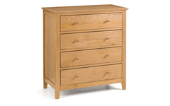 Salerno Oak 4 Drawer Chest
