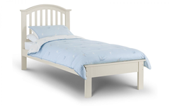 Olivia 90cm Bed in Stone White Finish