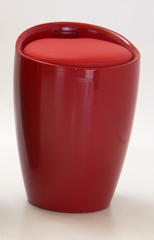 Dawson Red Stool with Storage