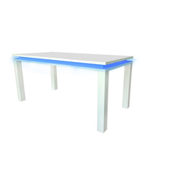 Milano High Gloss White Dining Table with LED Light