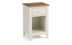 Salerno 2-Tone 1 Drawer Bedside