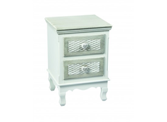LPD FurnitureBrittany 2 Drawer Bedside CabinetBlue Ocean Interiors