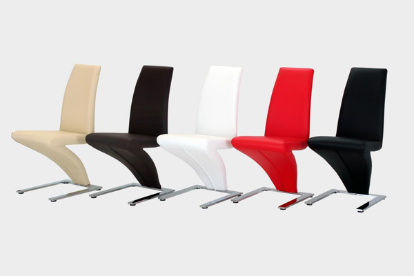 Ankara Z Chairs in Cream, Black, Brown or Red