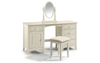 Cameo Stone White Twin Pedestal Dressing Table