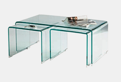 Heartlands FurnitureAngola Clear Glass Occasional SetBlue Ocean Interiors