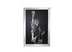 Valentina Mirrored Statue of Liberty Print  picture- Blue Ocean Interiors