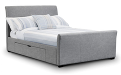 Julian BowenCapri 150cm Fabric Bed with 2 DrawersBlue Ocean Interiors
