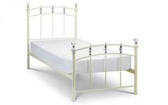 Sophie 90cm Bedframe in Stone White Finish
