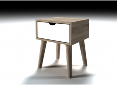 Scandi 1 Drawer Lamp Table
