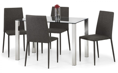 Enzo and Jazz Grey Dining Set