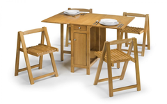 Savoy Dining Set in Light Oak Finish