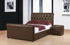 "Heartlands FurnitureCaxton Storage Bed In 4'6"" Available in Black or Brown Faux LeatherBlue Ocean Interiors"