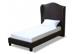 LPD FurnitureChateaux Single Wing Bed in Charcoal Fabric FinishBlue Ocean Interiors