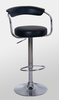 Bar Stool Model 7 in Black or White Seat with Chrome Base