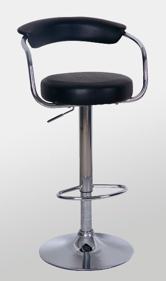 Heartlands FurnitureBar Stool Model 7 in Black or White Seat with Chrome BaseBlue Ocean Interiors