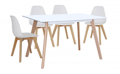 Belgium Large Dining Table with 4 Chairs