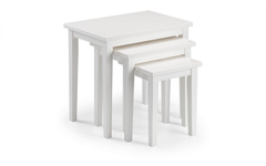 Cleo Nest of Tables in White Finish