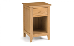 Salerno Oak 1 Drawer Bedside