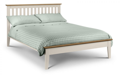 Salerno Double Bed in Two Tone Finish