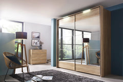 Kajus Sliding Door Wardrobe with Mirror Fronts W279cm