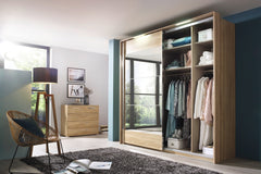 Kajus Sliding Door Wardrobe with Mirror Fronts W234cm