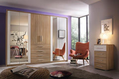 Wesel 6 Door 4 Mirror Wardrobe with 4 Drawers W271cm