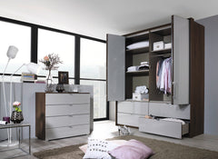 Erimo 5 Door Combi 2 Centre Drawers with Wood or Glass Doors W257cm