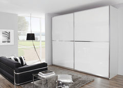 Sandrin A In Alpine White and White Glass Fronts