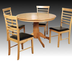 Hanover Solid Hardwood Round Dining Table with 4 Chairs