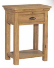 Lyon Oak 1 Drawer Console