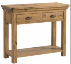 Lyon Oak 2 Drawer Console