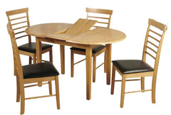 Hanover Solid Hardwood Oval Extending Table with 4 Chairs