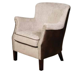 Harlow Fusion Armchair in Tan and Beige