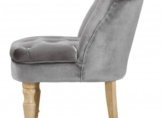LPD FurnitureCharlotte Boudoir Style Chair in SilverBlue Ocean Interiors